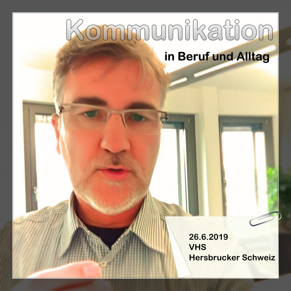 Oliver Kustner beim Workshop Kommunikation in Hersbruck